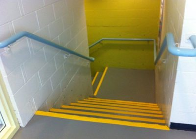 Commercial Interior Painting Stairwell Safety