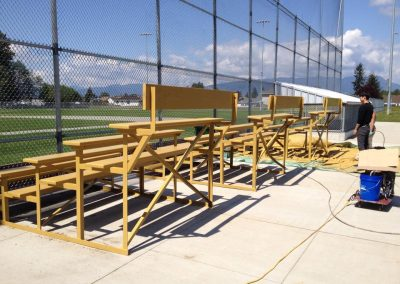 Commercial Painting Exterior Baseball Field Benches