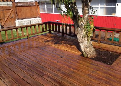 Exerior Painting Preperation Wood Deck Pressure Washing 3