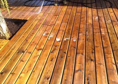Exerior Painting Preperation Wood Deck Pressure Washing
