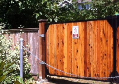 Residential Exterior Painting Wood Fence 2
