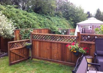 Residential Exterior Painting Wood Fence 4