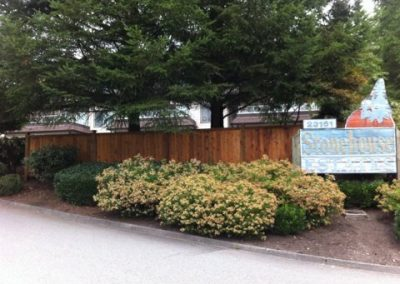 Residential Exterior Painting Wood Fence 6