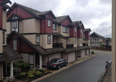Residential Strata Exterior Painting Aerial View Langley