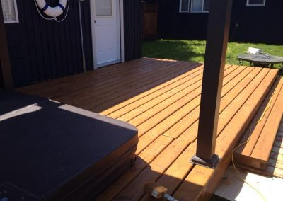 Wood deck paiting